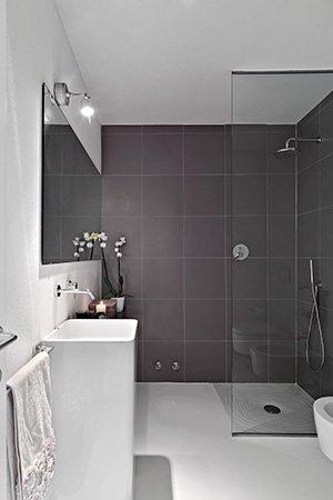 Modern glass shower screen