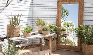 Beautiful garden mirrors