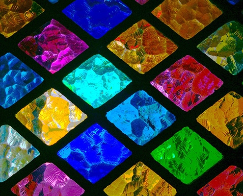 Variety of glass patterns