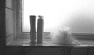 Opaque bathroom glass