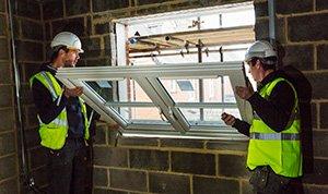 Refitting new glazed windows