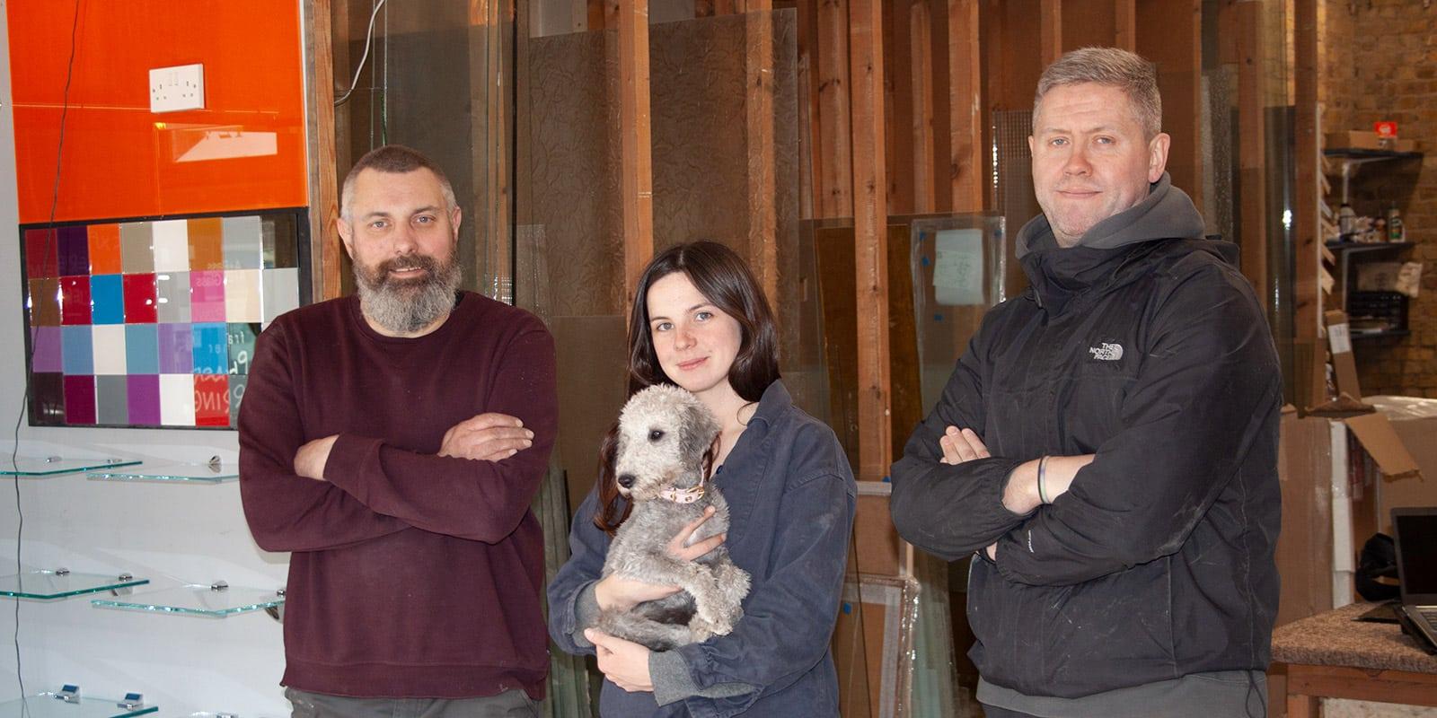 Our Stoke Newington glazing team