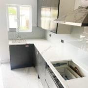 Kitchen splashback installation in Enfield
